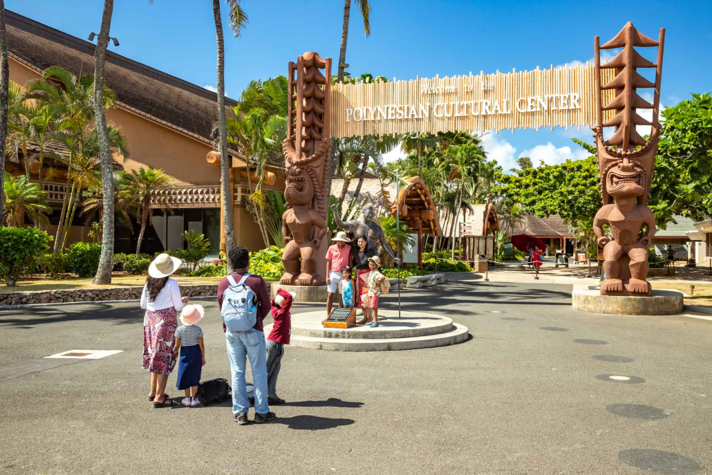Polynesian Cultural Center Entrance and Visitors Photo Oahu
