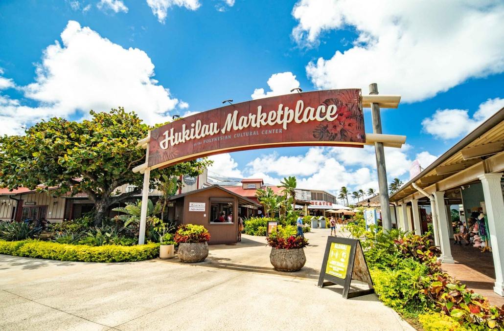 Polynesian Cultural Center Hukilau Market Place Entrance Oahu