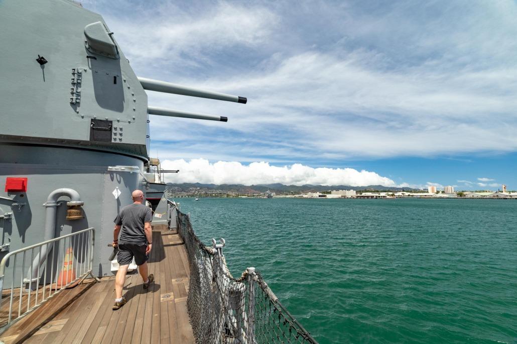 USS Missouri Battleship 5 inch Guns Pearl Harbor Oahu